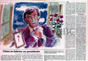"""""""Cómo se fabrica un presidente"""": Entrevista a Julio Feo. Hemeroteca ABC - 16/01/1983"""